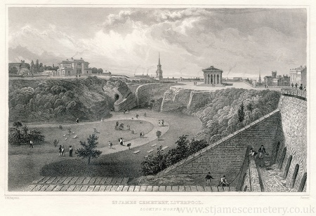 St James' Cemetery, Looking North, 1829