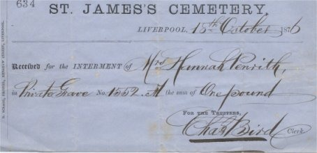 Receipt for the Interment of Hannah Penrith - bill-for-penrith-headstone.jpeg